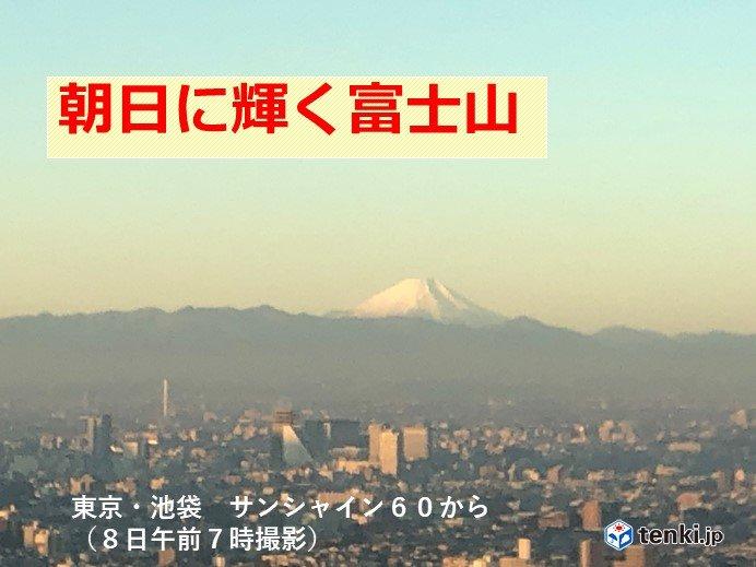 冬ばれの東京から富士山が見えます