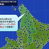 北海道 今季初-20度以下に