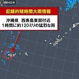 西表島120ミリ 記録的短時間大雨情報 冬は珍しい