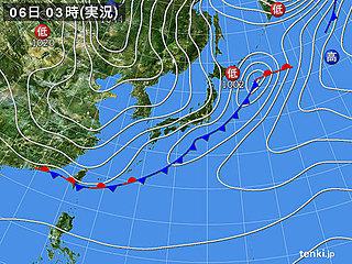 6日 寒気南下 冷たい北風強まる