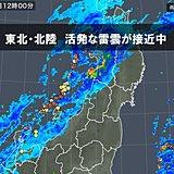 東北・北陸 雷雨に注意 今夜から明日朝は雪に