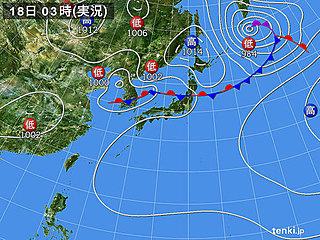 18日 日本海側中心に大気の状態 不安定