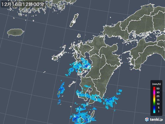 九州でジワジワと雨 この雨雲は明日にかけて関東まで