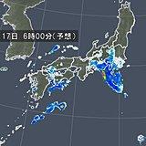 明日17日 九州から北海道で雨 11月並みの気温も