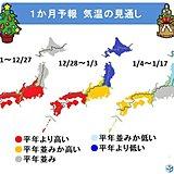 年末年始は寒気襲来 北日本限定か 1か月予報