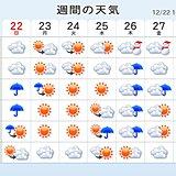 週間予報 クリスマス・部分日食・帰省ラッシュの天気