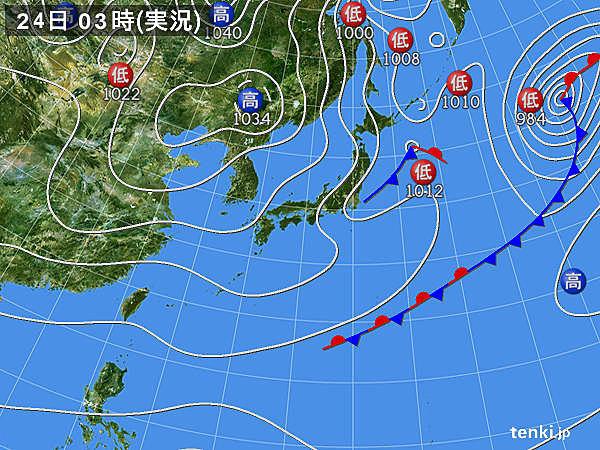 24日 太平洋側は冬晴れ イヴはグッと冷え込む_画像
