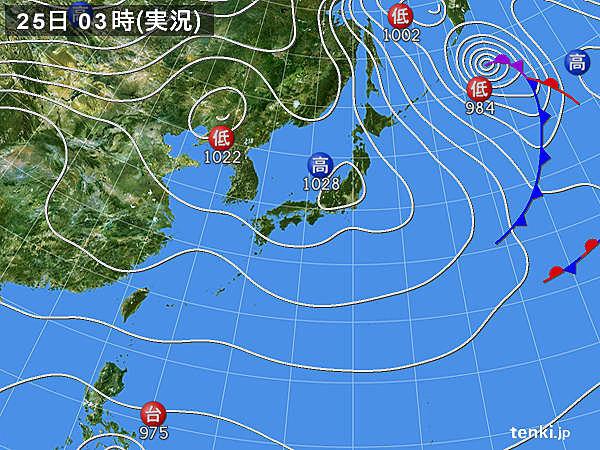 25日 九州や東北に低気圧が接近 関東は真冬の寒さ
