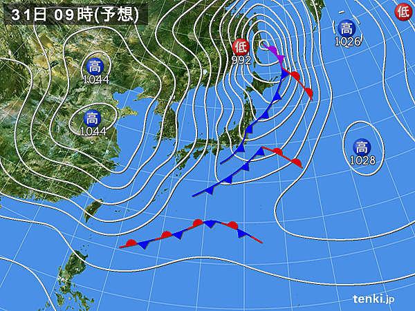大晦日から冬の嵐 40メートルの暴風警戒 極寒列島