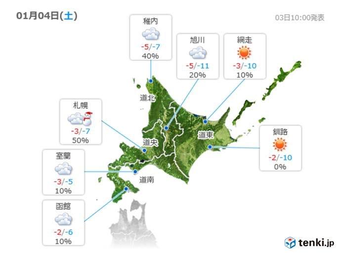 北海道 今夜から札幌周辺が雪の中心に?