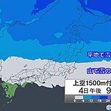 4日から再び強い寒気 雪や風強まる 西日本も山は雪