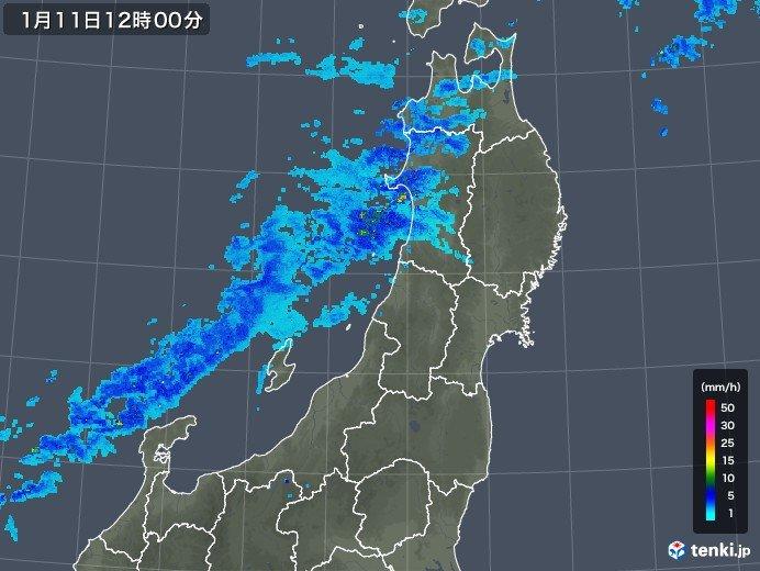 雪雲や雨雲接近中 午後は北陸や東北で広く雪や雨