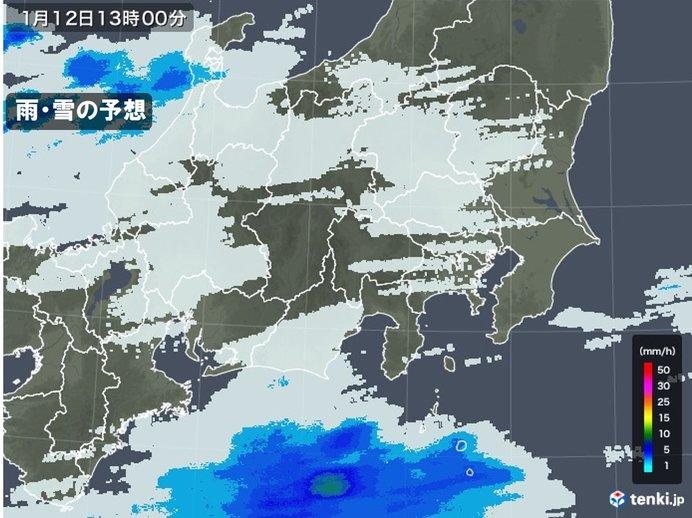 関東 きょうはにわか雨 成人の日は青空に