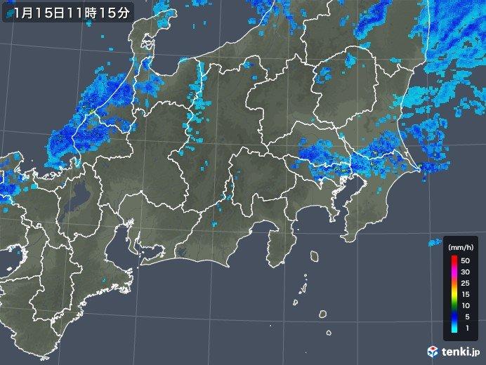 関東の雨 昼過ぎまで 夜は北風冷たく