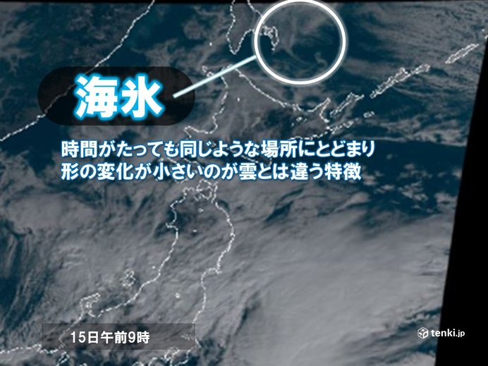 北海道に迫る流氷 衛星画像にも