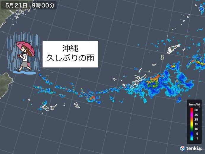 空梅雨の沖縄 ようやく雨(日直予...