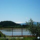 山形の春 残雪と新緑と青空