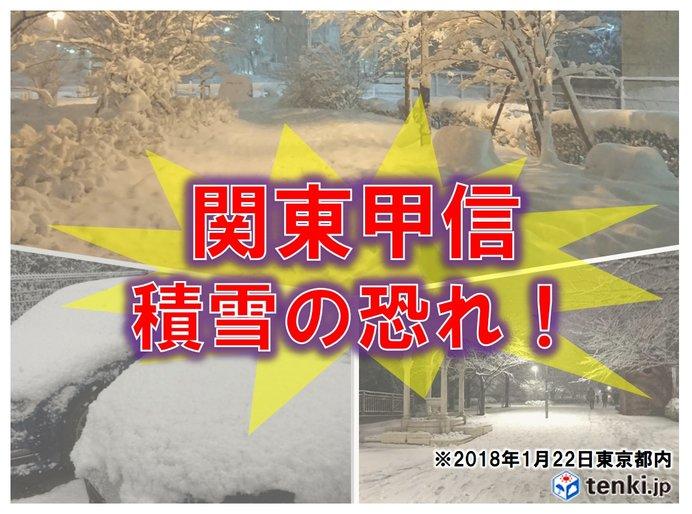 大雪に関する関東甲信地方気象情報