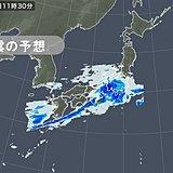 23日 雨雲は東へ 関東は午前中から冷たい雨に