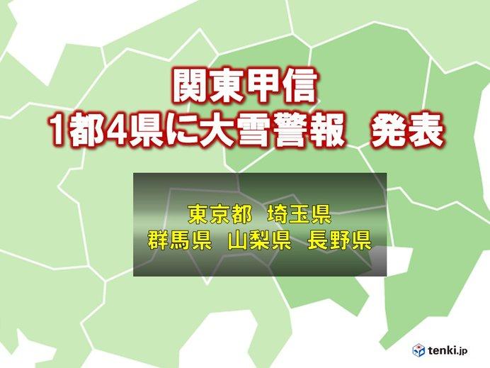 埼玉県にも大雪警報 28日朝まで大雪に警戒