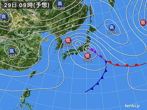 31日にかけて 低気圧の影響 風の強い状態が続く