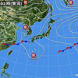 23日 西・東は広く雨 北は晴れ間あり