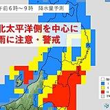 29日 東北の太平洋側 警報級の大雨・暴風のおそれ