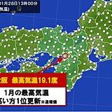 大阪 1月としては最も高い気温! たんぽぽ咲く