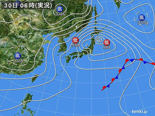 北海道や東北は暴風に警戒