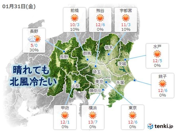 関東はグッと寒く