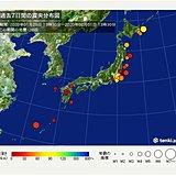 ここ1週間の地震回数 関東や北海道で最大震度4