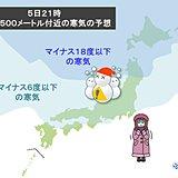 水曜から 今季最強寒気襲来 立春以降に大雪や極寒