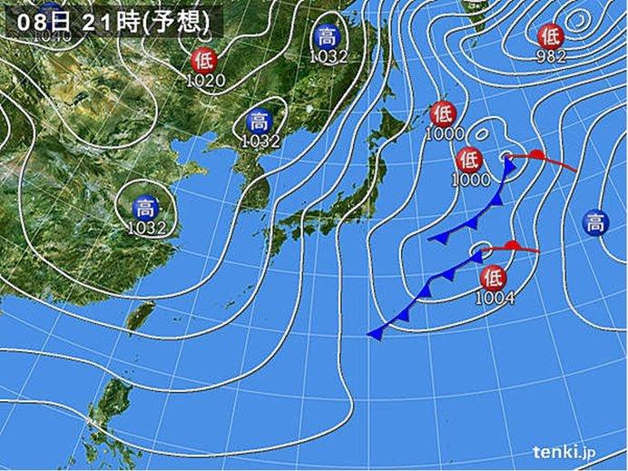 きょうの天気 冬の天気分布 日本海側は雷も