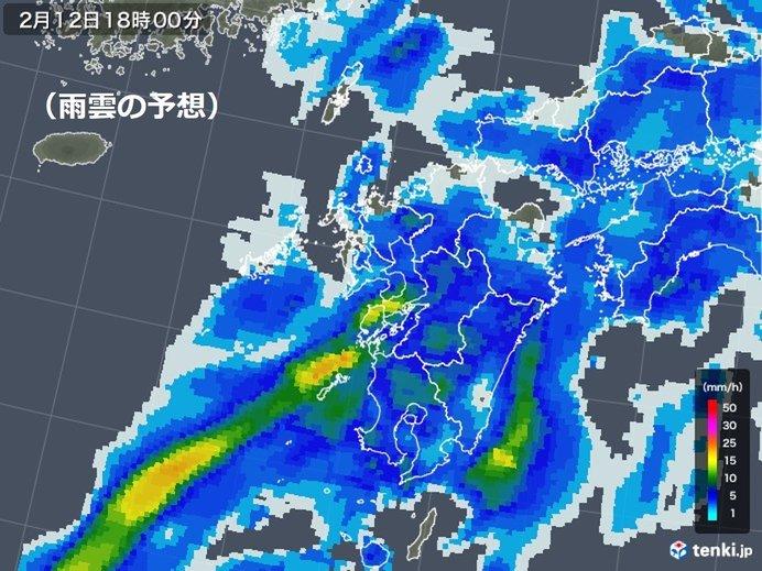 九州 一時激しい雨のおそれ