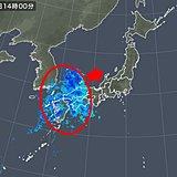 西の雨雲 お帰り時間には九州から近畿の広い範囲に
