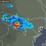 都内に活発な雷雲が発生中 雷雨注意