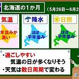 北海道の1か月 過ごしやすい日が多そう