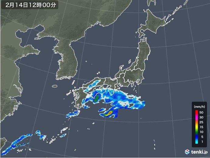 西日本 太平洋側を中心に雨