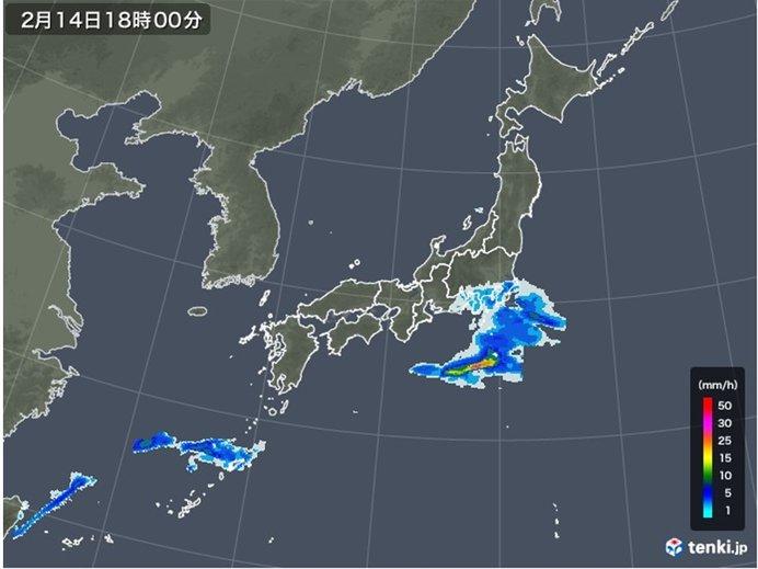 雨のエリアは東へ