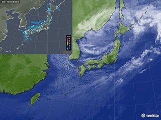 西日本に強い寒気 山陰付近で雪雲発達 落雷も