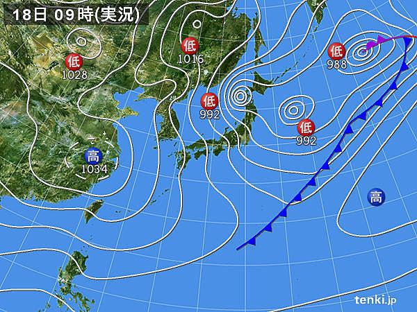 秋田県で最大瞬間風速28.9メートルを観測