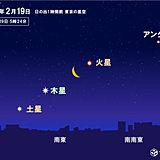 月と惑星の共演 夜明け前の空を眺めよう