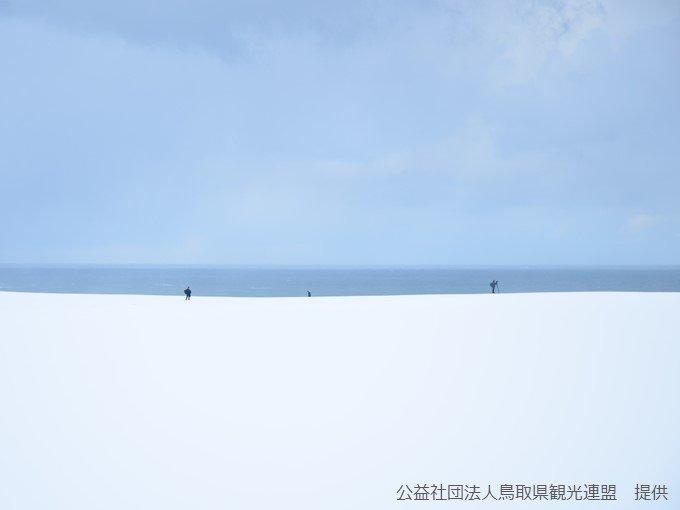 鳥取県大山で48時間降雪量80センチ、鳥取砂丘は白銀の世界に