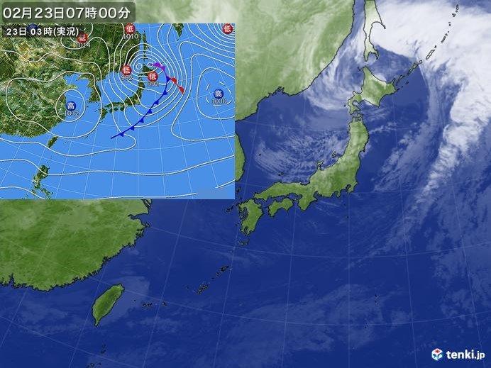 23日(日) 北海道で30メートルを超える風を観測
