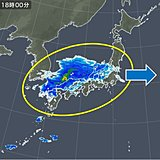 25日 午後は西から雨 夜は雷雨や激しく降る所も