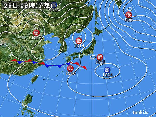 29日 雨雲は九州から東海へ 雷や強い雨にも注意