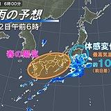 暖かさ続く?関東は通勤時冷たい雨 花粉は西ほど多く