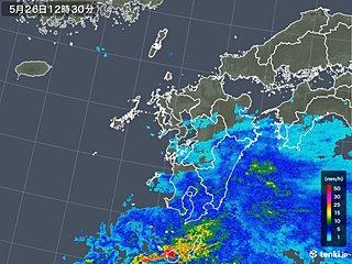 梅雨入り早々 屋久島で激しい雨