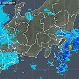 関東南部 午前中から雨雲かかる 夜遅くは本降りに