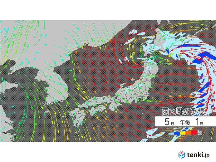 低気圧発達 北海道・東北で暴風 北海道は大雪の恐れ